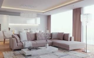 Дизайн гостиной бежевого цвета