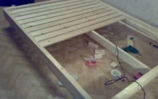 Как разобрать двуспальную кровать?